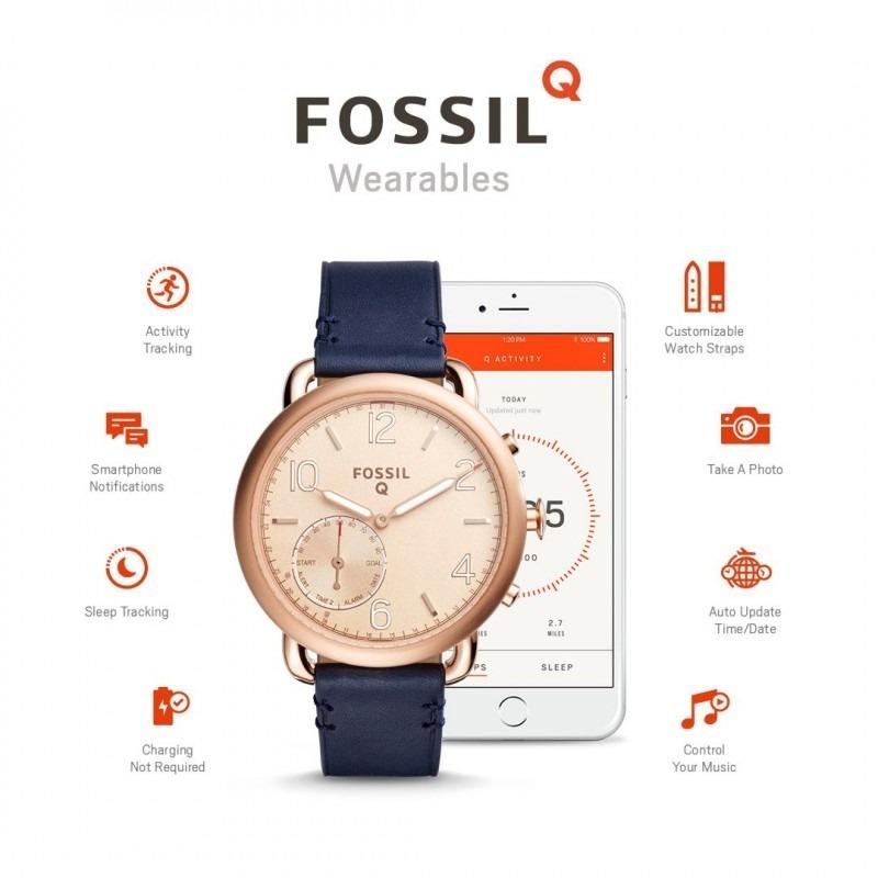 d9233e9d9189 reloj fossil q tailor smartwatch híbrido ftw1128 azul. Cargando zoom.