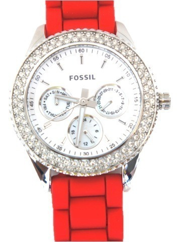 reloj fossil red diamods mod. es3213