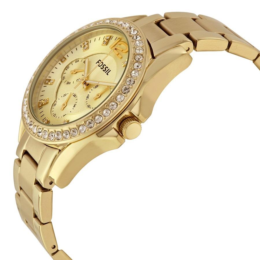 0396d2ad62d8 reloj fossil riley es3203 dama dorado multifuncion original . Cargando zoom.