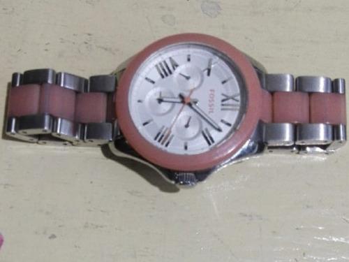 reloj fossil rosado