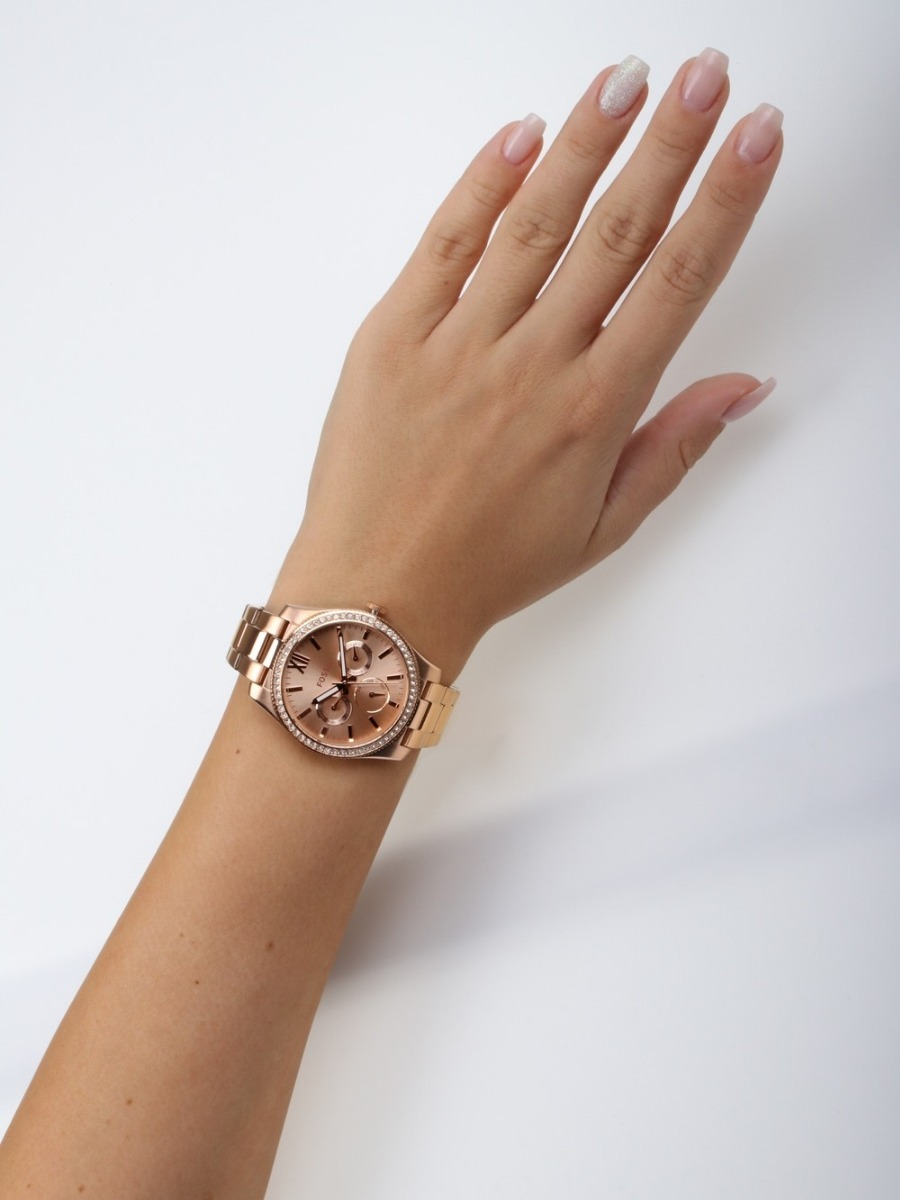 reloj fossil scarlette es4315 dama oro rosa acero inoxidable. Cargando zoom. fc7b16e9943f