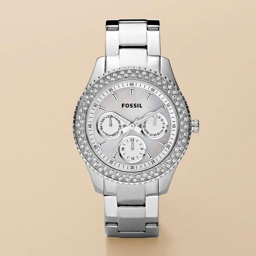 4f50b7eb97bb Reloj Fossil Stella Model Es 2860 Acero Inoxidable Y Piedras - U S ...