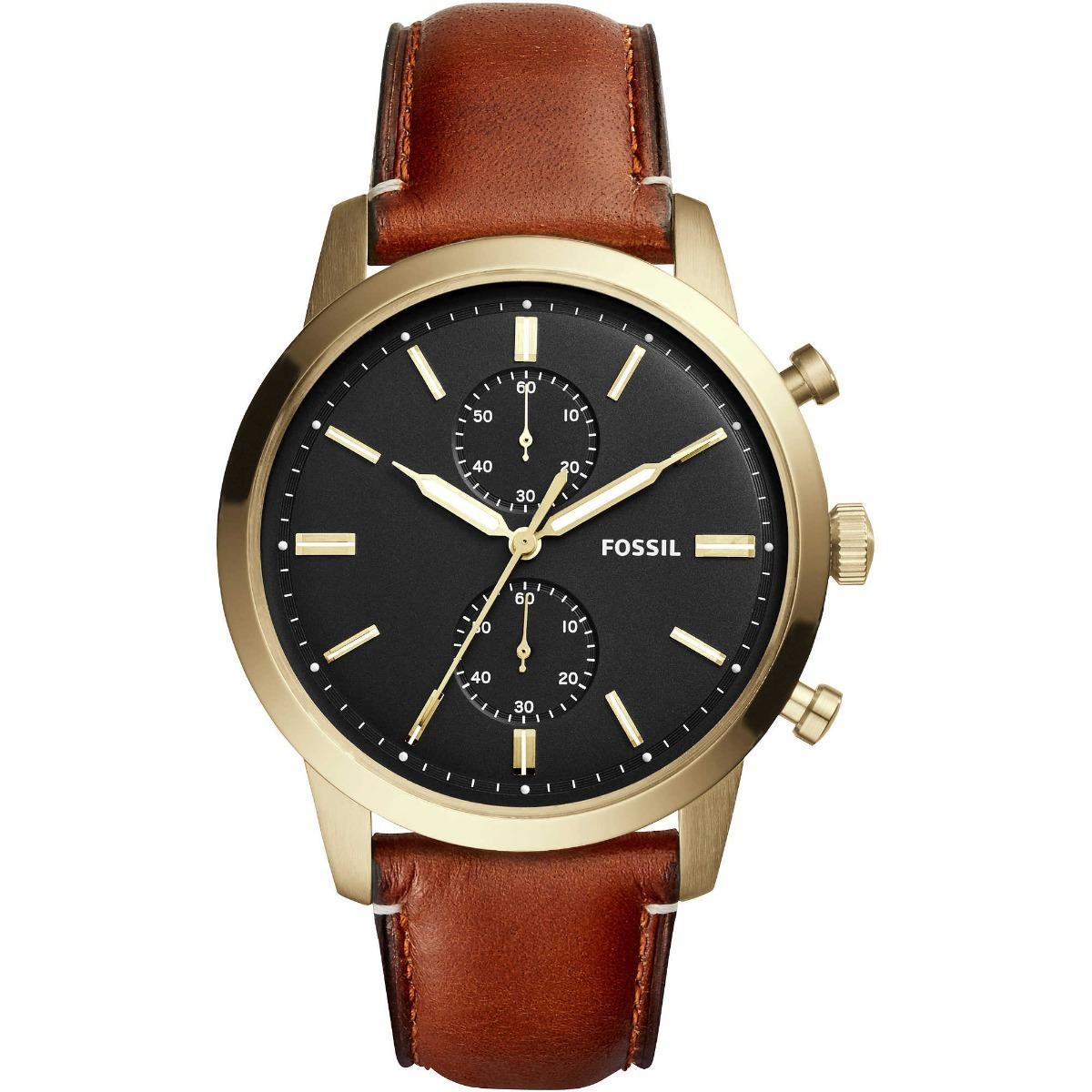 92006d8d8751 reloj fossil townsman chronograph fs5338 para hombre cafe. Cargando zoom.