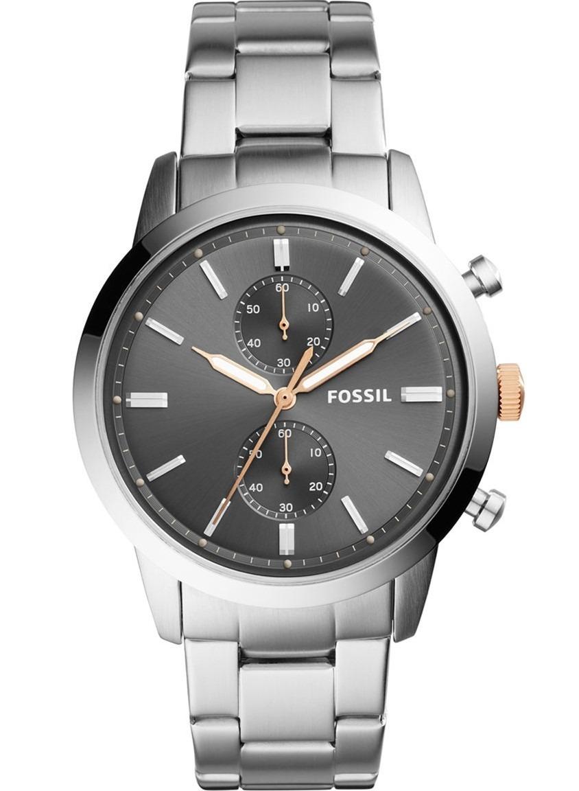 ae7766265b5f reloj fossil townsman fs5407 chrono acero plateado hombre. Cargando zoom.