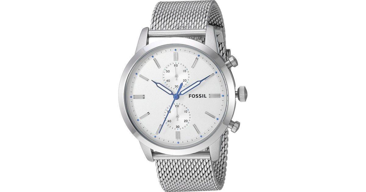 168c9ebbd45f reloj fossil townsman fs5435 crono plateado hombre original. Cargando zoom.