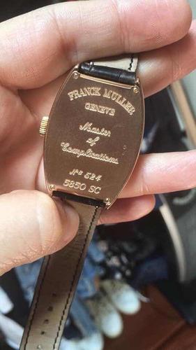 reloj frank muller sunset rose gold 5850 sc