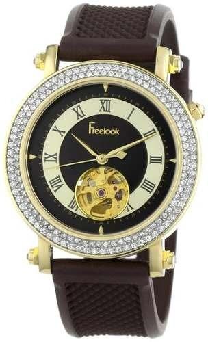 reloj freelook marrón femenino