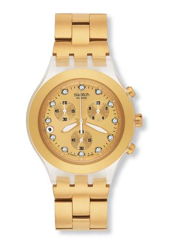 reloj full-blooded dorado swatch