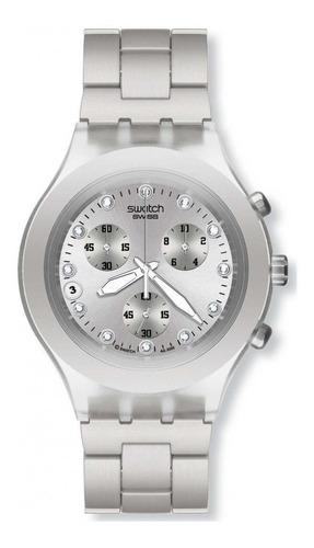 reloj full blooded silver plateado swatch