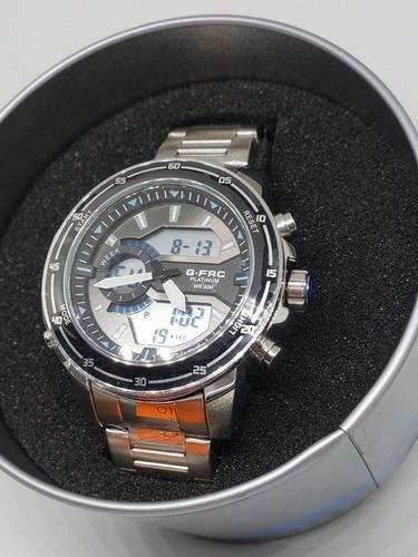 reloj g-force platinum 100% original en acero sumergible