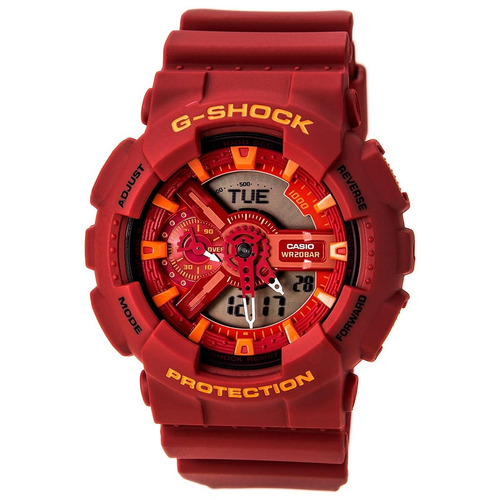 reloj g-shock ga-110ac-4a rojo masculino