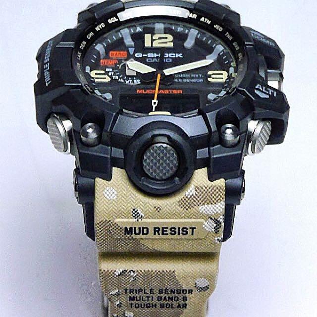 Shock Reloj 1a5 Camuflado Desert Gwg1000 Militar G Mudmaster SVpzUM