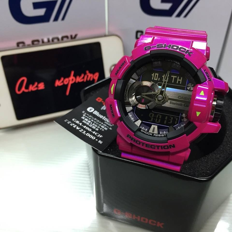 7c862f3eb1bc Reloj G Shock New Gba400 Fucsia Unisex Brillante Diseño -   139.990 ...