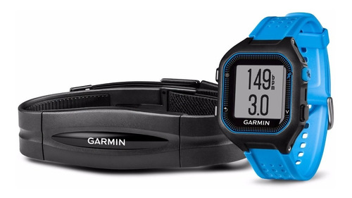reloj garmin forerunner® 25 blue bundle pulsómetro gps