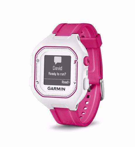 reloj garmin forerunner® 25 pink gps smartwatch