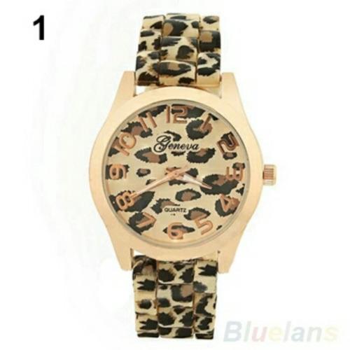 reloj geneva animal print