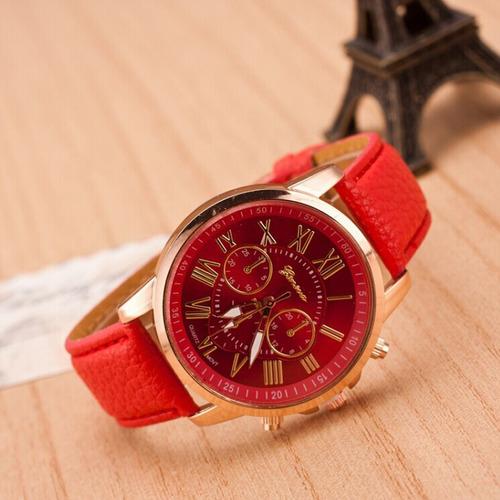 reloj geneva cuero para mujer