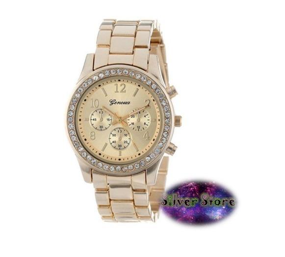 Reloj Geneva Dama Oro Rosado Con Diamantes -   220.00 en Mercado Libre e830b87cba9b
