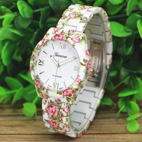reloj geneva flor mujer - detal y por mayor