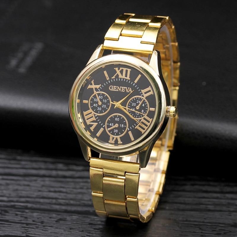 5237d55c7fc4 Reloj Geneva Metal Dorado Grande Mujer Moda Dama A756 -   239.00 en ...