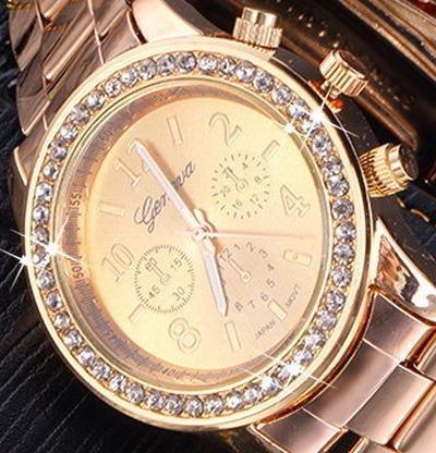 reloj geneva original acero brillantes delux por mayor