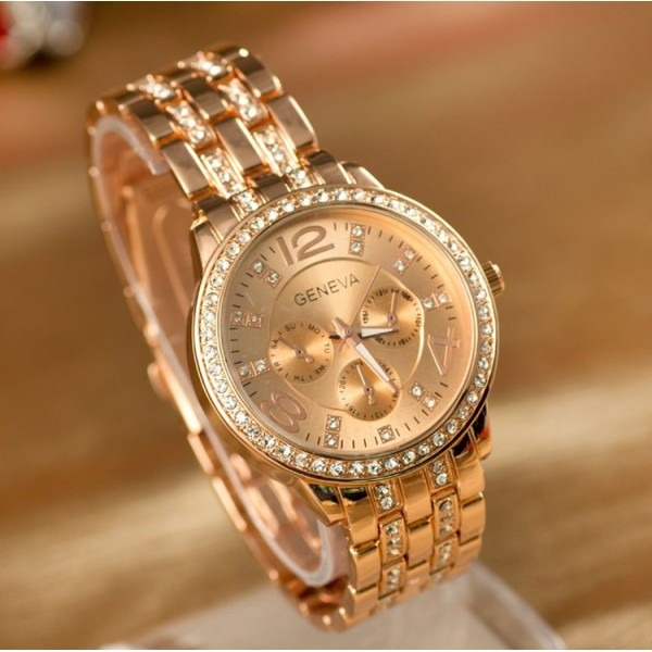 dc9ee613985a Reloj Geneva Oro Rosa Y Oro Amarillo - S  45
