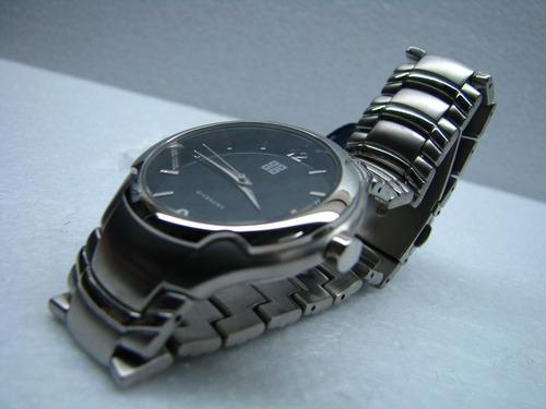 reloj givenchi original acero con cristal mineral - cuartz