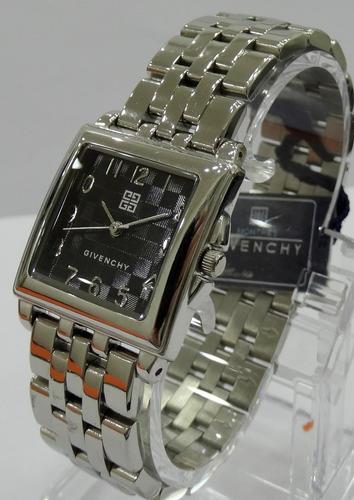reloj givenchy acero quartz hombre original nuevo garantía!