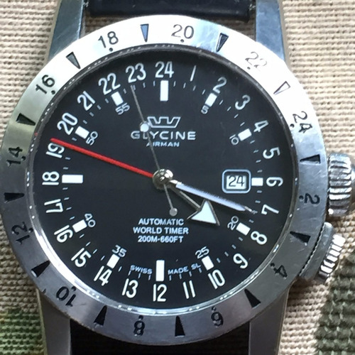 reloj glycine airman (pilotos 46 mm,breitling, tag, omega)
