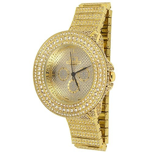 reloj golden world de techno king mens heart of stone oro 62