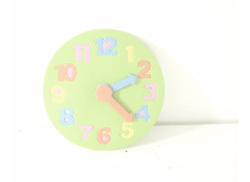 reloj goma eva, aprende a ver la hora