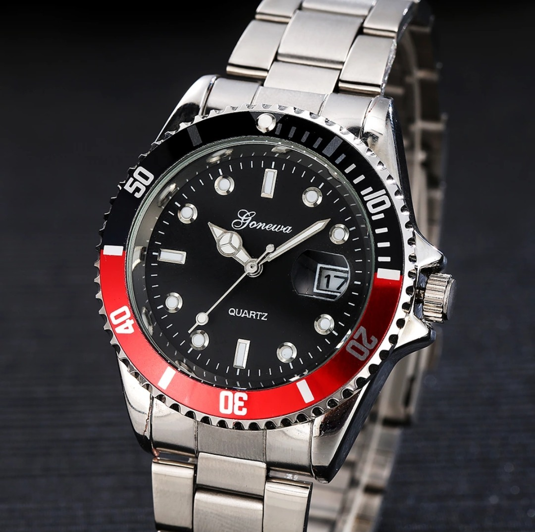 De Cuarzo 00 Gonewa Fechador649 Reloj Acero caja KcFJT1l
