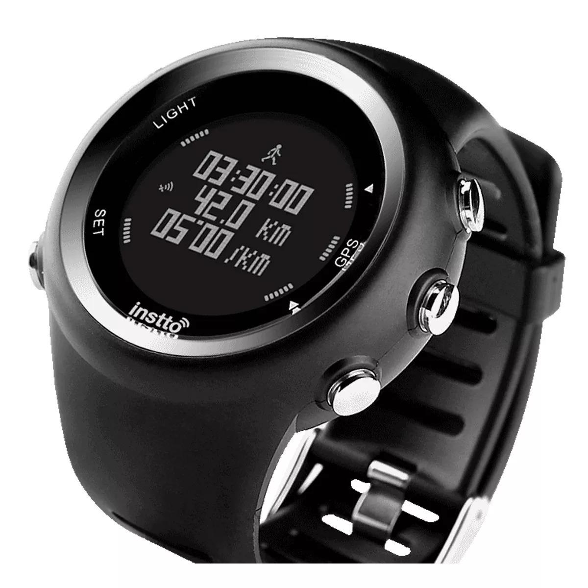 503b8837d Reloj Gps Instto Correr Sumergible Atletismo Natación Negro - $ 3.995,44 en  Mercado Libre