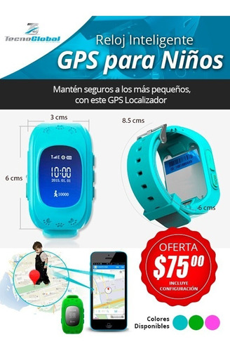 reloj gps para niños rastreo satelital boton de panico