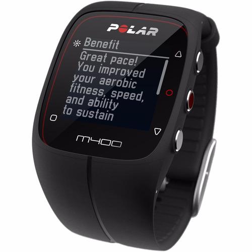 reloj gps polar m400 negro smartwatch con sensor bluetooth