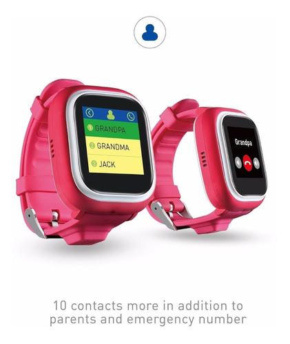 reloj gps ticktalk 1.0s touch screen kids wearable (pink)