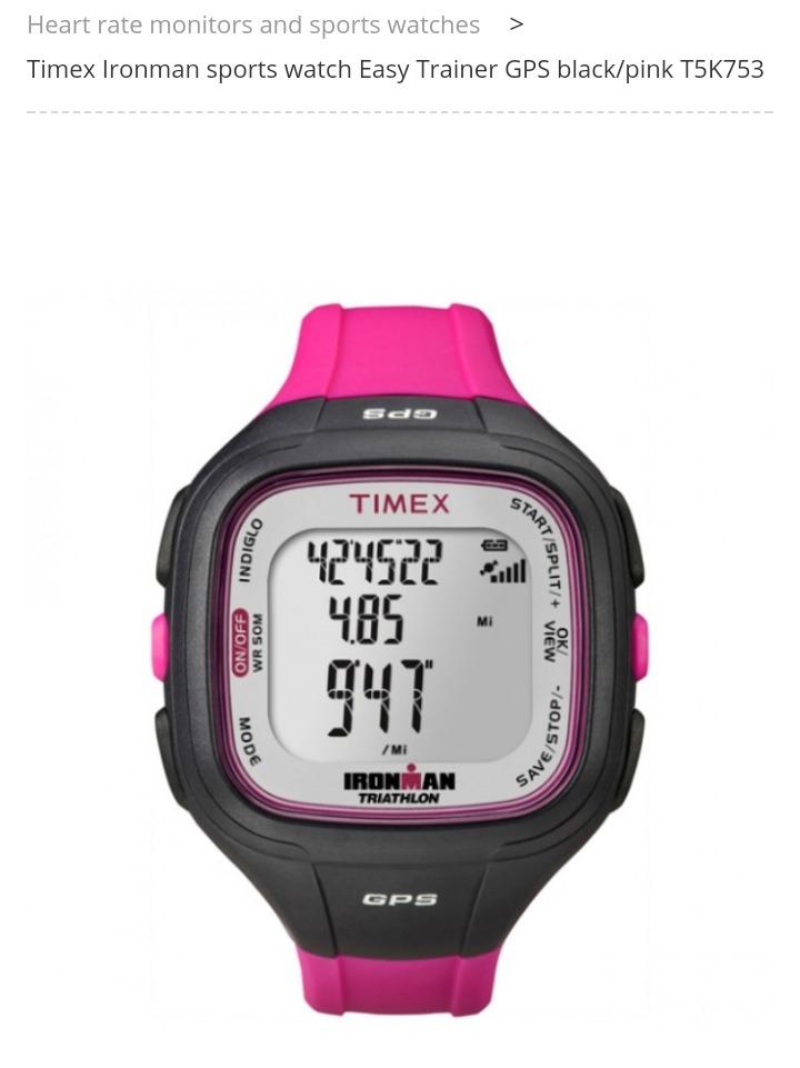 53c8169bab78 reloj gps timex mujer rosa triatlon t5k753 gps. Cargando zoom.