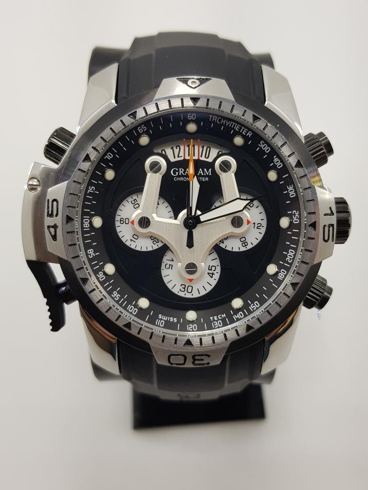 16d0ef18a7a0 reloj graham acero negro (fotos reales). Cargando zoom.