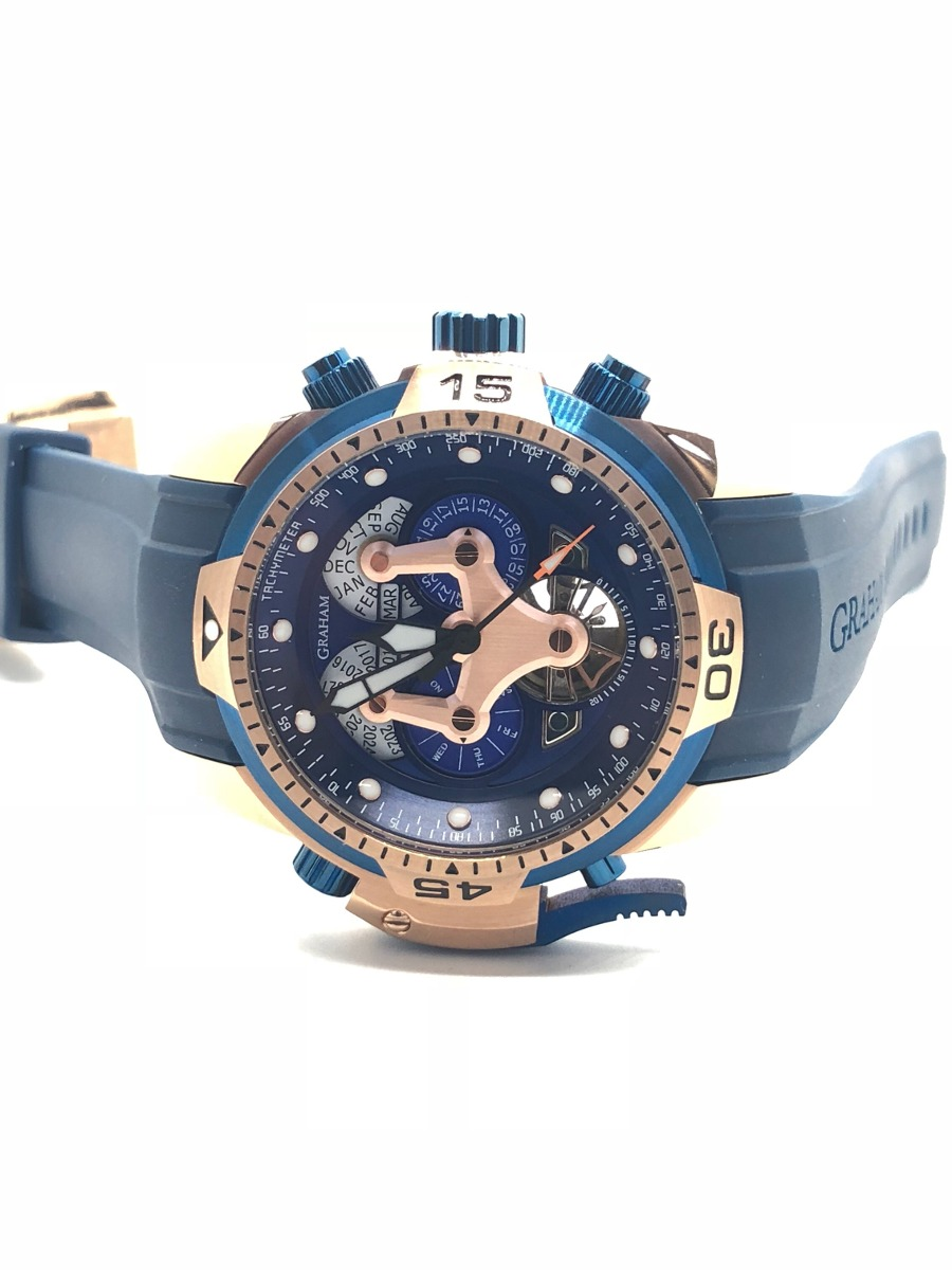 55cb3973cd38 reloj graham chronofighter 44 mm blue. Cargando zoom.