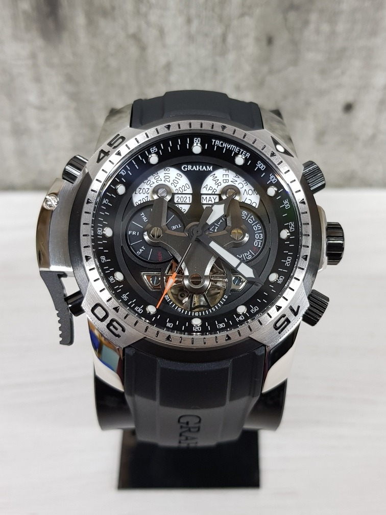 131d94828143 Reloj Graham Chronofighter Negro acero 45mm (fotos Reales ...