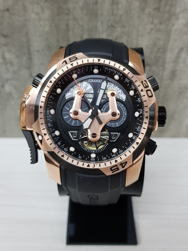 9010dcaa5864 Reloj Graham Chronofighter Negro oro Rosa 45mm(fotos Reales ...
