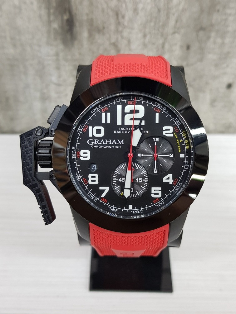 d84f400cbe10 reloj graham chronofighter rojo (fotos reales). Cargando zoom.