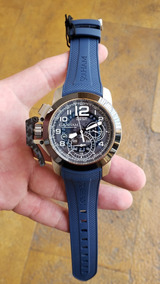 55bf1be1e169 Reloj Graham Chronofighter Steel Target Skel Azul 2ccac.u04a