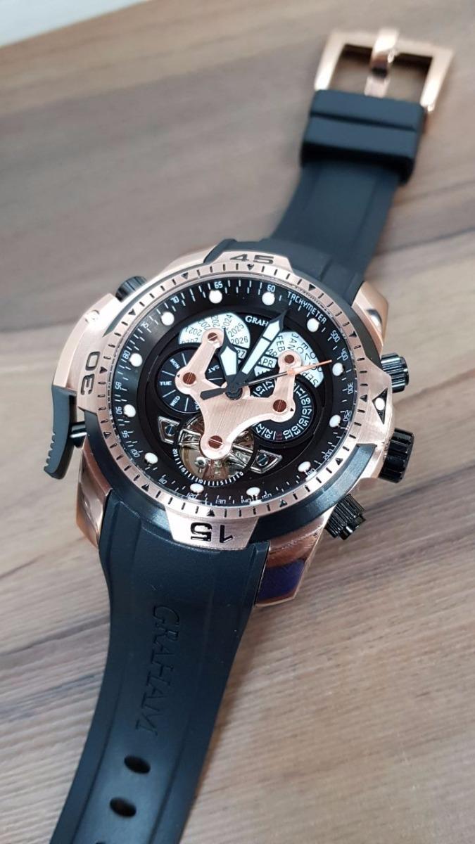 fc4c97f776da reloj graham negro rosado oversize automatico tourbillon. Cargando zoom.