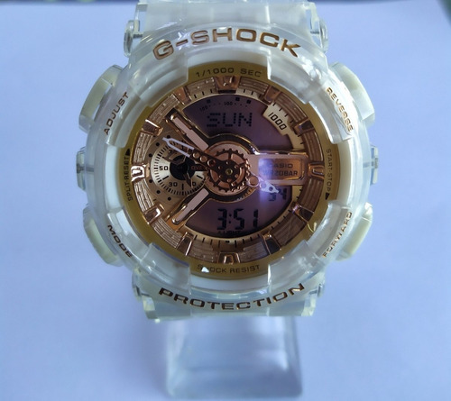 reloj gshock  transparente damas caballeros digital