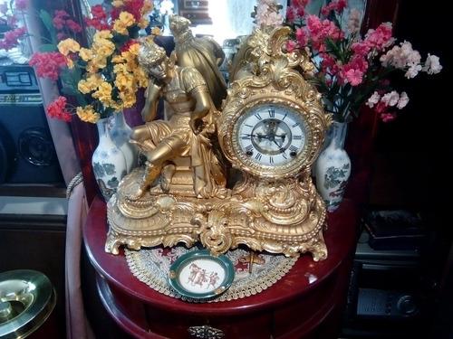 reloj guarnición mesa antiguo ansonia siglo xix 1882 oro 24k