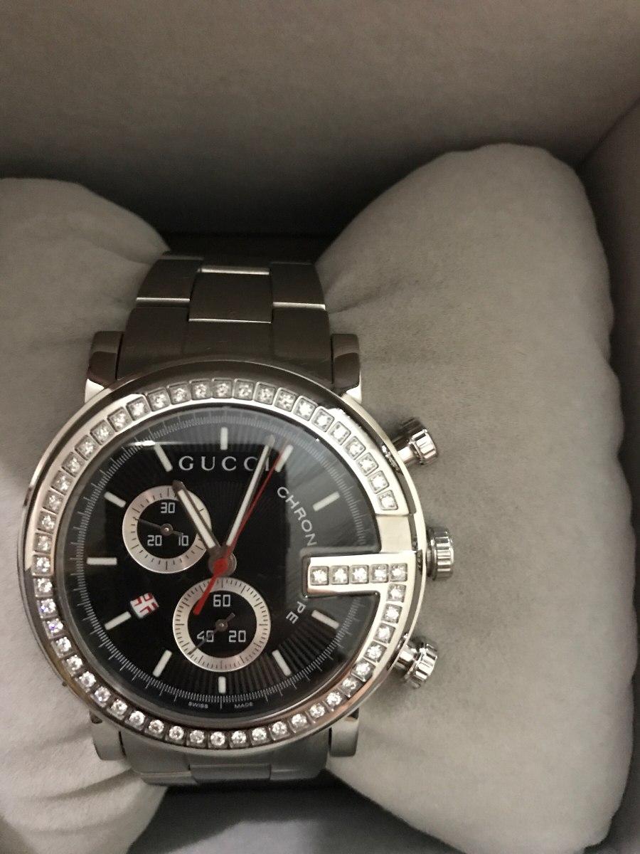 7782095f7bce8 reloj gucci 101.1 cromo con diamantes. Cargando zoom.