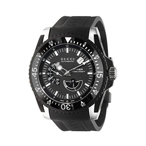 904dcee52d7 Reloj Gucci Dive Black Dial Silicone Strap Men s Watch Ya136 ...