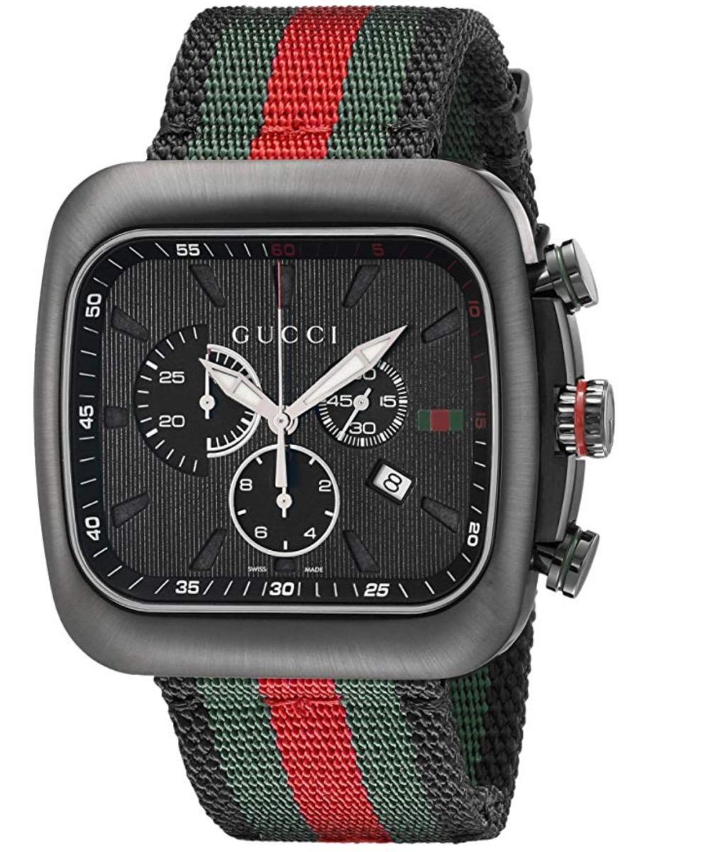 Reloj Gucci Ya131202 Unisex Negro Coupe Chronograph -   15 9c24519e95e