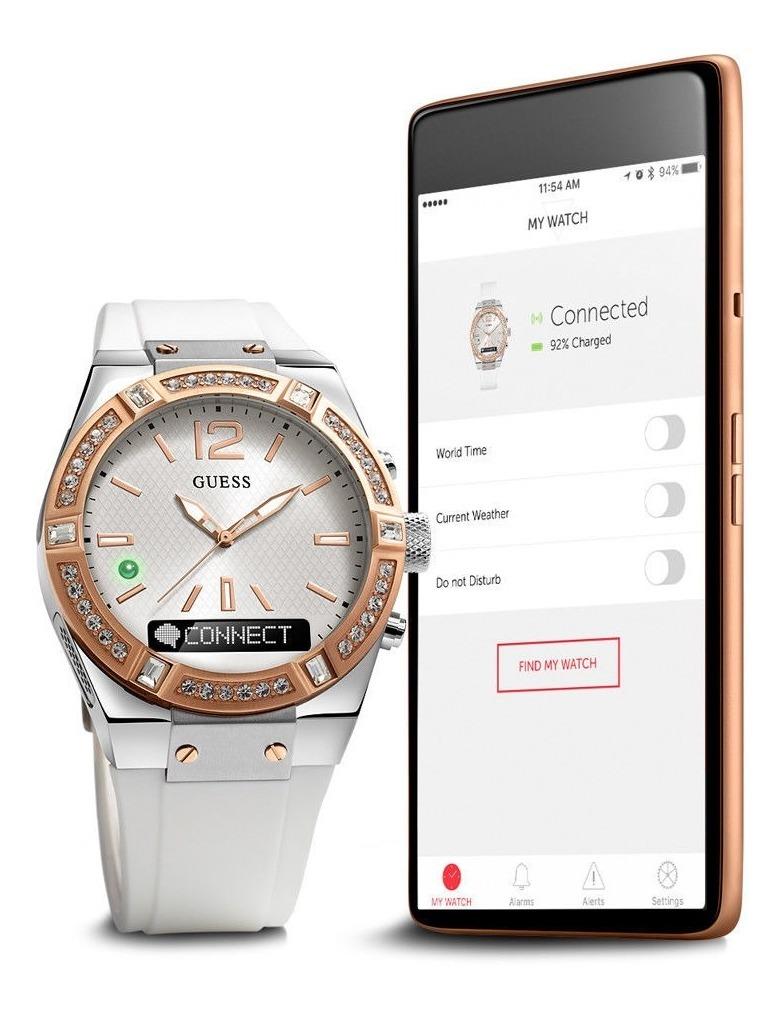 Guess Bluetooth Smart Watch Reloj C0002m2 Híbrido Connect L dCxroBe